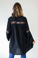 Tunic Blouse in Black Back View