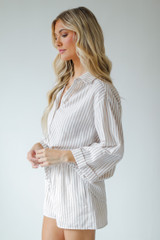 Striped Blouse Side View