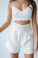 Taupe - Striped Shorts from Dress Up
