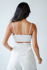 Striped Crop Top Back View