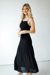 Smocked Maxi Skirt Side View