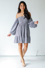 Gingham Mini Dress Front View