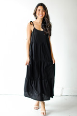 Tiered Midi Dress Front View