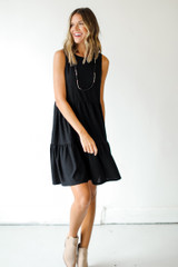 Swiss Dot Tiered Dress Front View