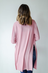 Ribbed Lightweight Cardigan Back View