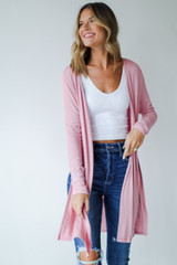 Dress Up model wearing a Ribbed Lightweight Cardigan
