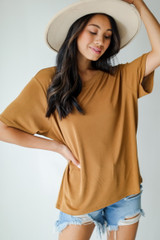 Camel - Dress Up model wearing an Everyday Tee