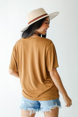 Everyday Tee in Camel Back View
