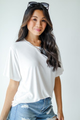 Everyday Tee in White Side View