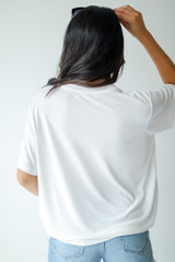 Everyday Tee in White Back View