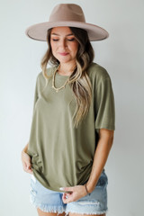 Everyday Tee in Olive Front View