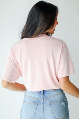 Everyday Tee in Blush Back View