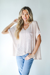 Blush - Knit Pocket Tee from Dress Up
