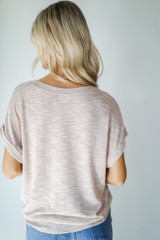 Knit Tee in Blush Back View