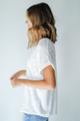 Knit Tee in White Side View