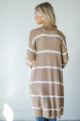 Striped Cardigan Back View