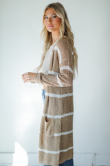Striped Cardigan Side View
