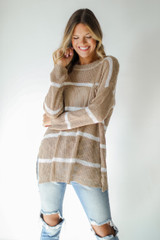 Striped Sweater Front View