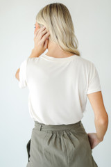 Everyday Tee in Ivory Back View