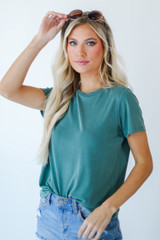 Everyday Tee in Teal Front View