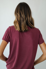Everyday Tee in Wine Back View