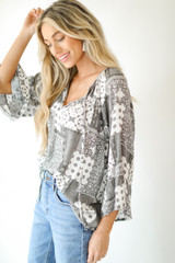 Bell Sleeve Blouse Side View