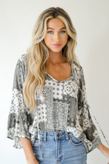 Bell Sleeve Blouse Front View