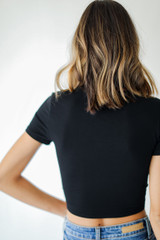 Wrap Top in Black Back View