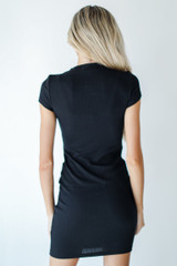 Ribbed Dress Back View