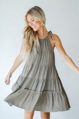 Tiered Dress Front View