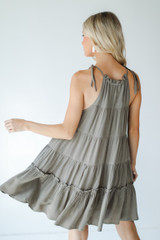 Tiered Dress Back View