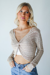 Crochet Knit Top Front View