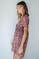 Floral Babydoll Dress Side View
