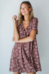 Floral Babydoll Dress Front View