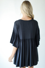 Oversized Babydoll Top Back View