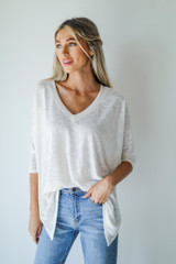 Oversized Knit Tee Front View