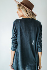 Cardigan in Teal Back View
