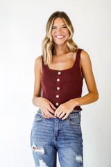 Wine - Sweater Tank from Dress Up