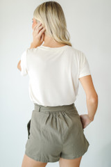 Paperbag Waist Shorts Back View