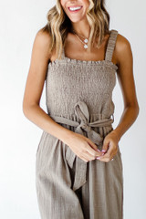 Taupe - Linen Jumpsuit from Dress Up