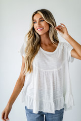 White - Babydoll Tee from Dress Up