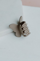 Taupe - Close Up of a Butterfly Claw Hair Clip