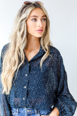 Spotted Blouse Front View