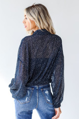 Spotted Blouse Back View