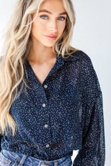 Close Up of a Spotted Blouse