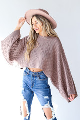 Cable Knit Sweater Front View