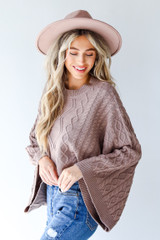 Cable Knit Sweater Side View