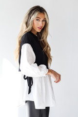 Sweater Vest Blouse Side View