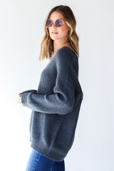 Sweater in Blue Side View