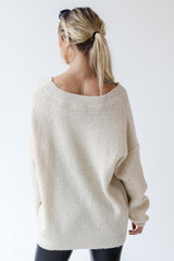 Sweater in Ivory Back View